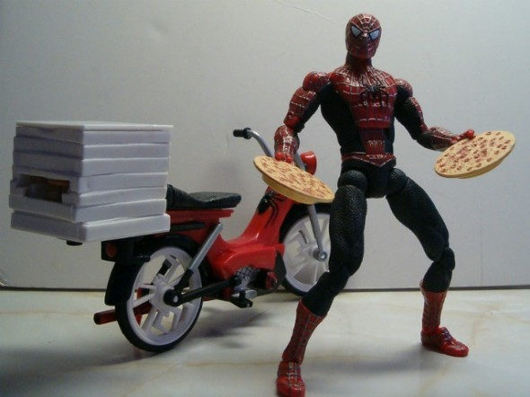 Spider-man pizza