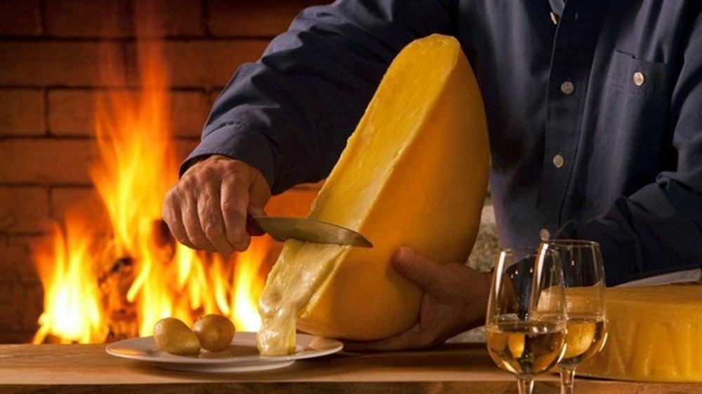fromage raclette feu