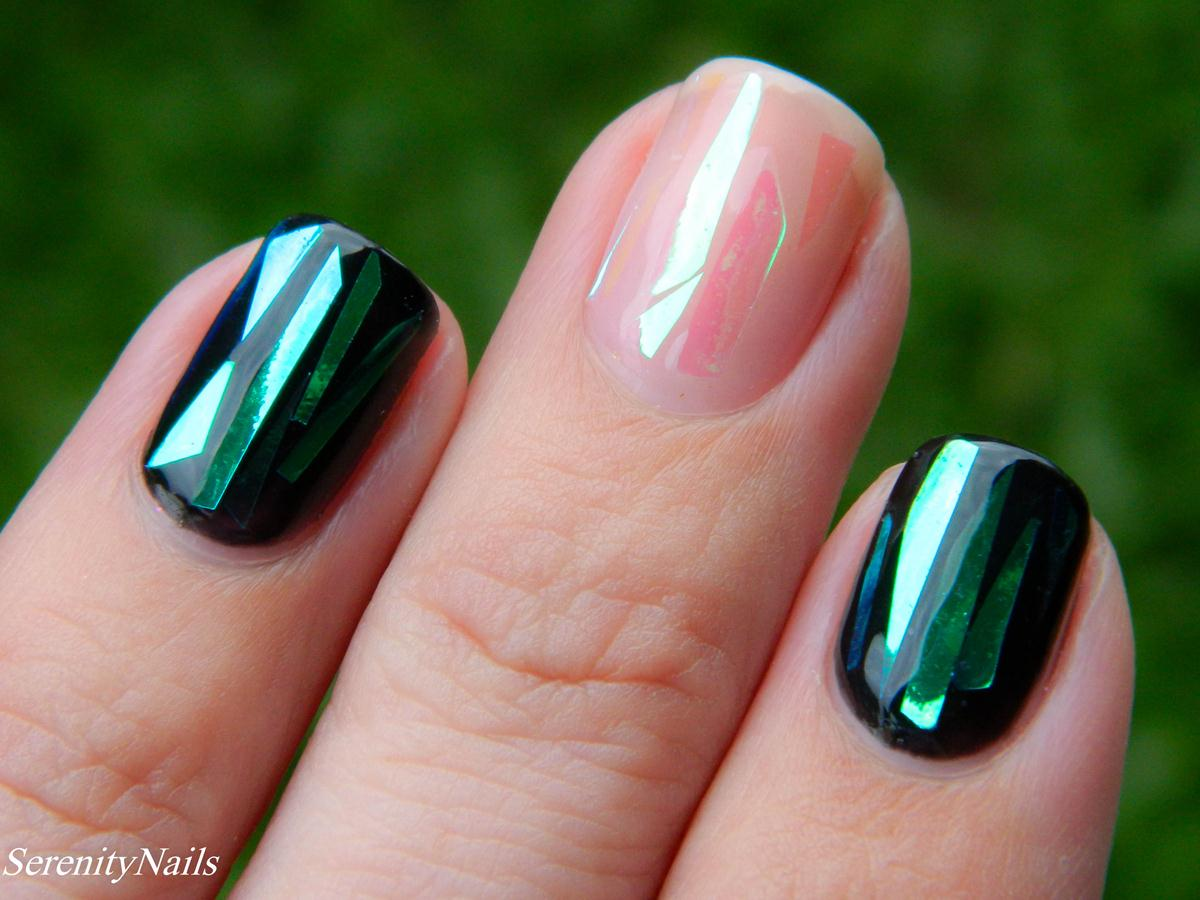 Vernis glass nails brillant et vert
