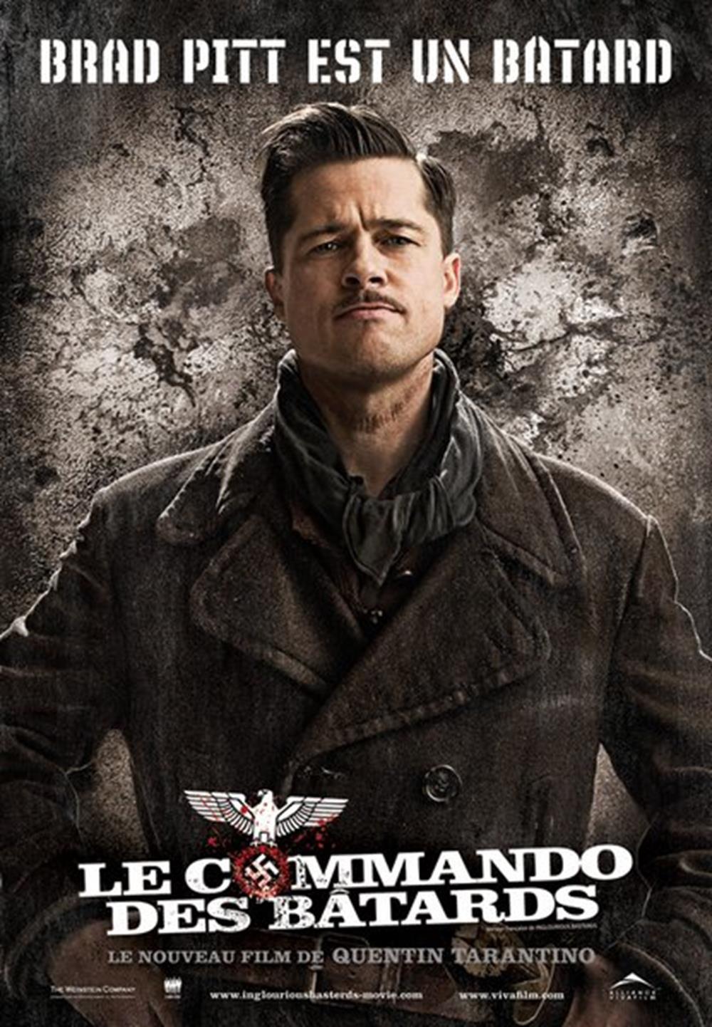 affiche cinéma quebec traduction Inglorious bastard